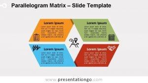 Parallelogram Matrix Slide Template Lorem Ipsum Lorem ipsum