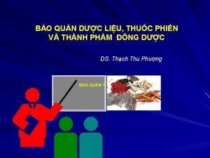 BO QUN DC LIU THUC PHIN V THNH