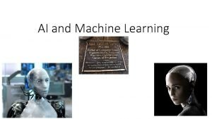 AI and Machine Learning The Turing Test Turing