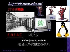 http bb nctu edu tw ENIAC tsaiwncsie nctu