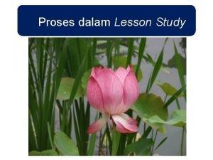 Proses dalam Lesson Study Proses dalam Lesson Study