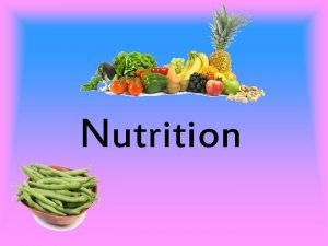Nutrition Carbohydrates A carbohydrates is an organic compound