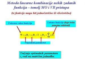 Metoda linearne kombinacije nekih zadanih funkcija temelj MO