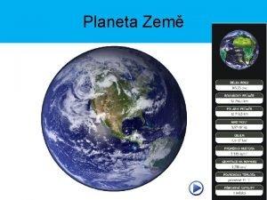 Planeta Zem Zkladn daje o Zemi Tvar koule