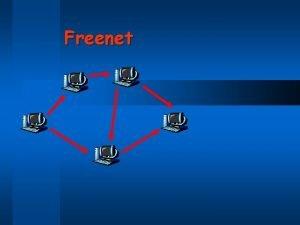 Freenet Anonymity v Napster anonymity Gnutella Kazaa do