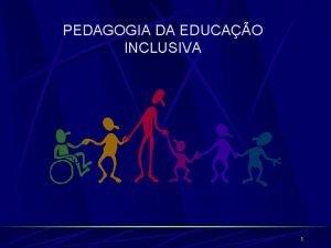 PEDAGOGIA DA EDUCAO INCLUSIVA 1 PEDAGOGIA DA EDUCAO