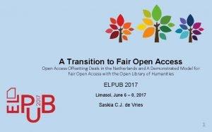 A Transition to Fair Open Access Offsetting Deals