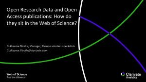 Open Research Data and Open Access publications How