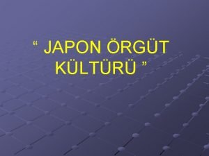 JAPON RGT KLTR J A P O N