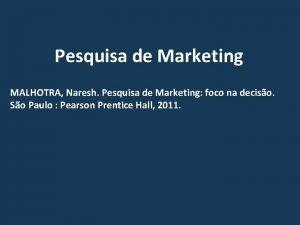 Pesquisa de Marketing MALHOTRA Naresh Pesquisa de Marketing