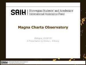 Magna Charta Observatory Bologna 19 09 13 A