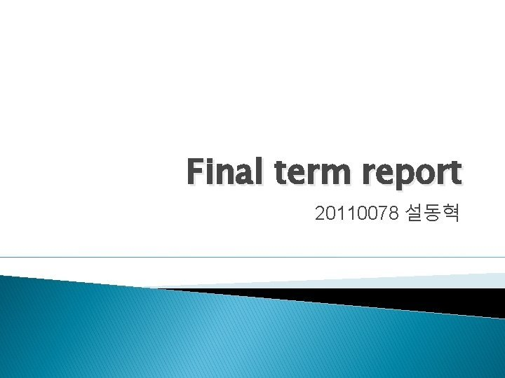 Final term report 20110078 Background Background Background Background