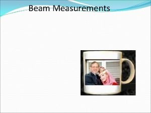 Beam Measurements Intensity intensity power beam cross sectional
