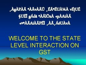 What is GST GST is a Tax on