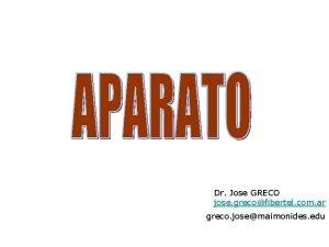 Dr Jose GRECO jose grecofibertel com ar greco