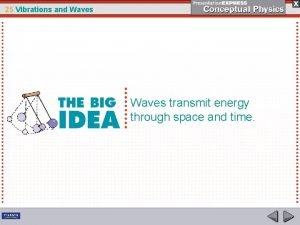 25 Vibrations and Waves transmit energy through space
