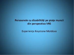 Persoanele cu dizabiliti pe piaa muncii din perspectiva