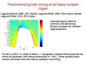 Parameterizing tidal mixing at tall steep isolated ridges