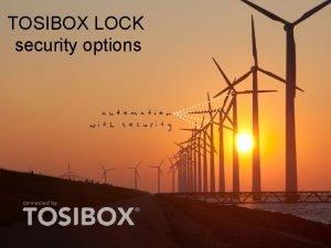 TOSIBOX LOCK security options TOSIBOX LOCK security options