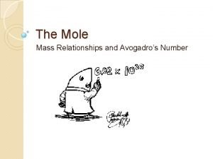 The Mole Mass Relationships and Avogadros Number Relative