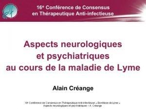 16 e Confrence de Consensus en Thrapeutique Antiinfectieuse