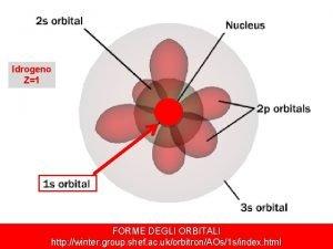 Idrogeno Z1 FORME DEGLI ORBITALI Universit degli Studi