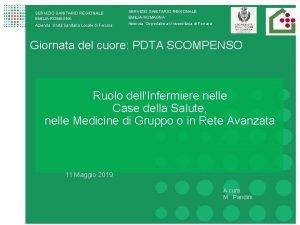 SERVIZIO SANITARIO REGIONALE EMILIAROMAGNA Azienda Unit Sanitaria Locale