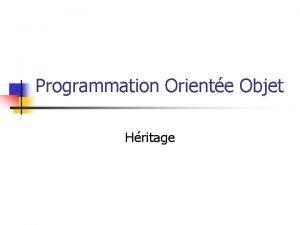Programmation Oriente Objet Hritage Hritage Exemple Dans lavion