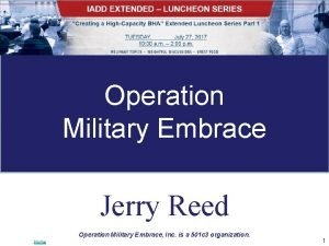 Operation Military Embrace Jerry Reed Operation Military Embrace