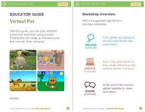 VIRTUAL PET EDUCATOR GUIDE Workshop Overview Virtual Pet