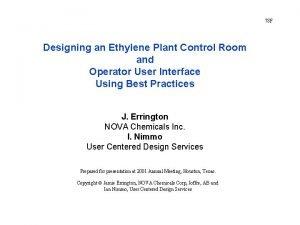 78 F Designing an Ethylene Plant Control Room