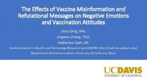 The Effects of Vaccine Misinformation and Refutational Messages