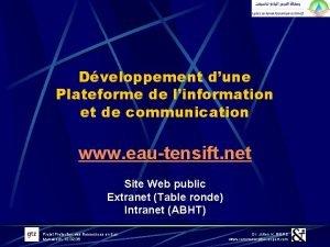 Dveloppement dune Plateforme de linformation et de communication