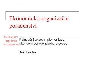 Ekonomickoorganizan poradenstv Plnovn akce implementace ukonen poradenskho procesu