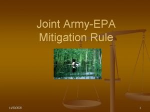 Joint ArmyEPA Mitigation Rule 11302020 1 Mitigation Rule