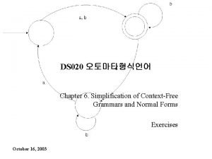 DS 020 Chapter 6 Simplification of ContextFree Grammars
