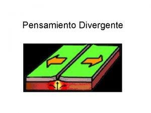 Pensamiento Divergente EL PENSAMIENTO DIVERGENTE PENSAMIENTO CRTICO y