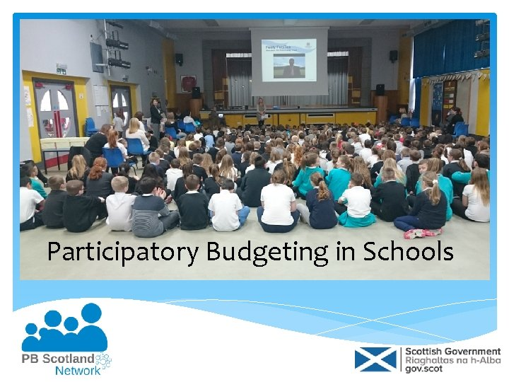 Participatory Budgeting in Schools What is participatory budgeting