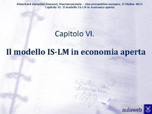 Blanchard Amighini Giavazzi Macroeconomia Una prospettiva europea Il
