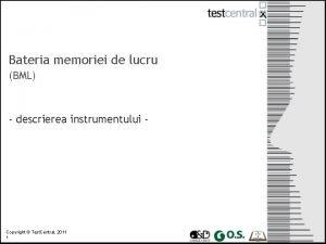 Bateria memoriei de lucru BML descrierea instrumentului Copyright