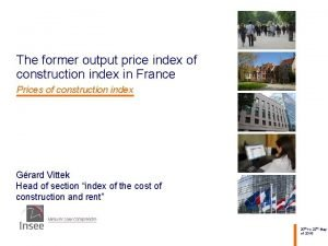 The former output price index of construction index