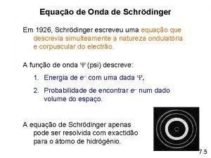 Equao de Onda de Schrdinger Em 1926 Schrdinger