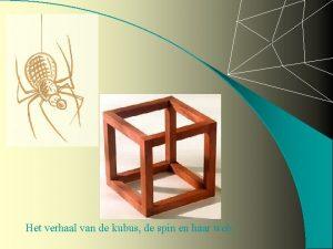 Het verhaal van de kubus de spin en