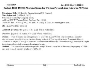 March 2019 doc IEEE 802 1519 0122 00