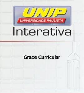 Grade Curricular GRADUAO Administrao 4 anos Cincias Contbeis