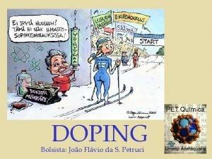 DOPING Bolsista Joo Flvio da S Petruci DOPING