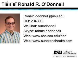 Tin s Ronald R ODonnell Ronald odonnellasu edu