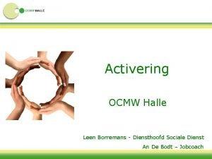 Activering OCMW Halle Leen Borremans Diensthoofd Sociale Dienst