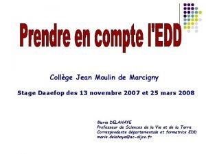 Collge Jean Moulin de Marcigny Stage Daaefop des