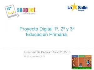 Proyecto Digital 1 2 y 3 Educacin Primaria
